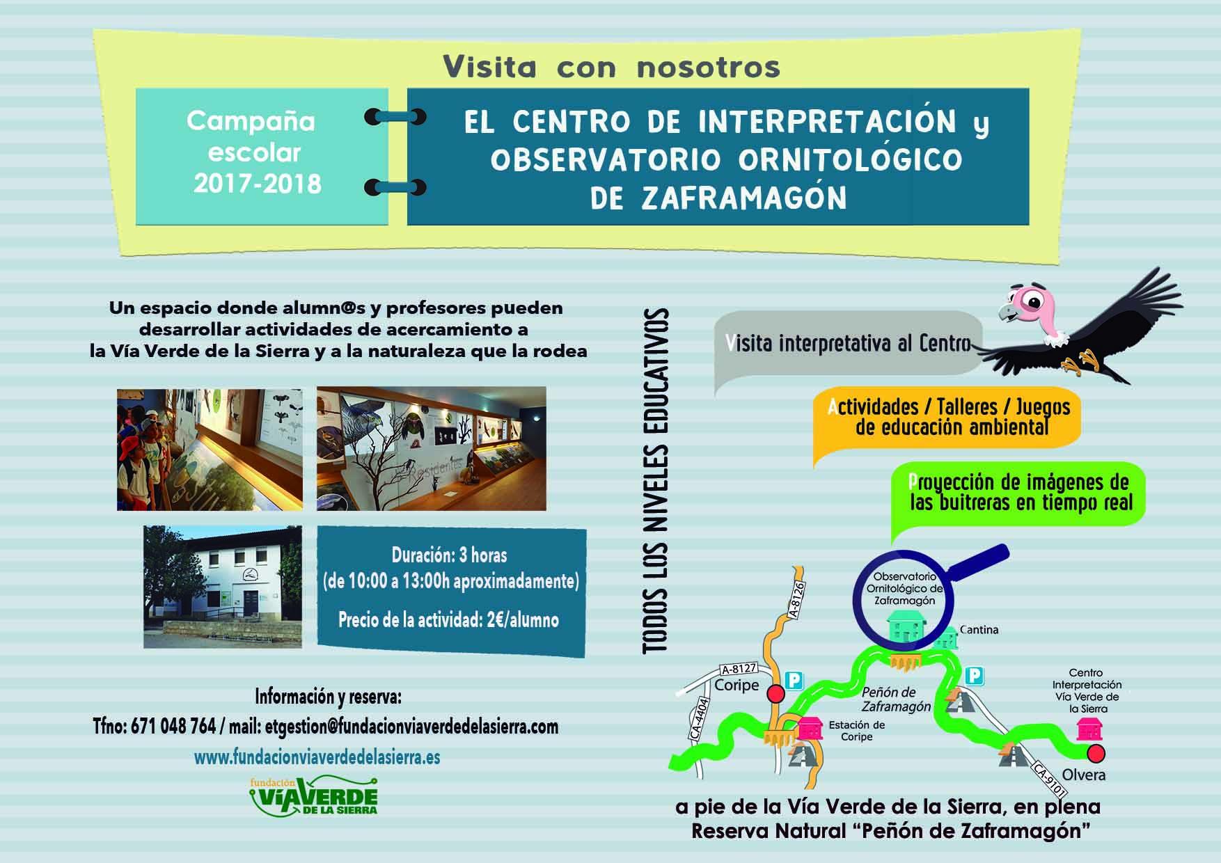 Lanzada la campaña escolar 2017-2018 para visitar los Centros de Interpretación de la Vía Verde de la Sierra 1
